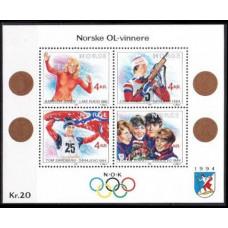 1989 Norway Mi1027-1030/B12 1994 Olympics Lillehammer 8,00 €