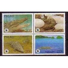 1994 Palau Mi.690-693VB WWF / Reptiles 4.20 €