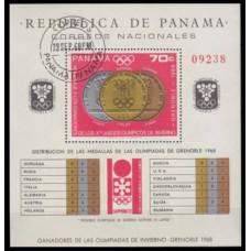 1968 Panama Mi.1086/B92 used 1968 Olympics Grenoble 20,00 €