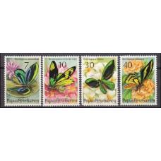 1975 Papua New Guinea Mi.288-291 Butterflies 4,50 €