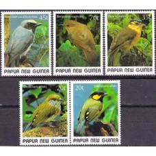 1989 Papua New Guinea Mi.597-601 Small birds 9.20 ?