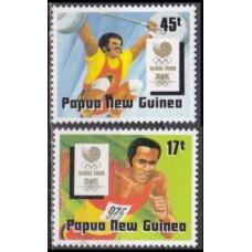 1988 Papua New Guinea Mi.578-579 1988 Olympiad Seoul 2,30 €