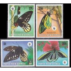 1988 Papua New Guinea Mi.574-577 WWF / Butterflies 12,00 €