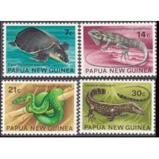 1972 Papua New Guinea Mi.219-222 Reptiles