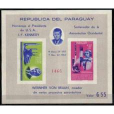 1964 Paraguay Mi.1361-1362/B61b John F. Kennedy / Rockets 42,00 €