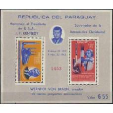 1964 Paraguay Mi.1353-1354/B60 John F. Kennedy / Rockets 30.00 €
