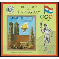 1970 Paraguay Mi.2045/B141b 1972 Olympic Munich 65,00