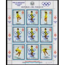 1986 Paraguay Mi.4001KL 1988 Olympics in Calgary