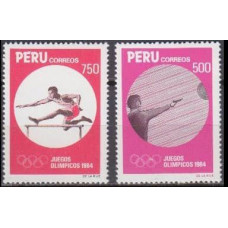 1984 Peru Mi.1268-1269 1984 Olympic in Los Angeles