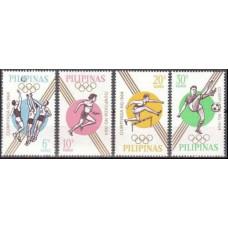 1964 Philippines Mi.762-765 1964 Olympiad Tokio 2,00 €