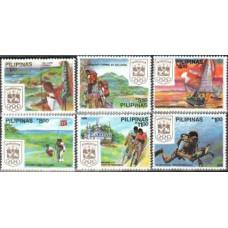 1988 Philippines Michel 1862-1867 Olympiad Kamitet 10.00 €