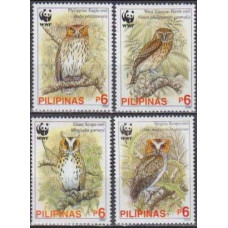 2004 Philippines Mi.3593-3596 WWF, Philippine owls 3,60 €