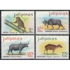 1969 Philippines Mi.866-869 Fauna