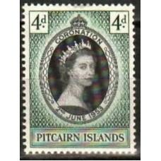 1953 Pitcairn Islands Mi.19* Elizabet II 4.00 €