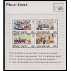 1980 Pitcairn Islands Mi.192-195/B6 Transport 2,20 €