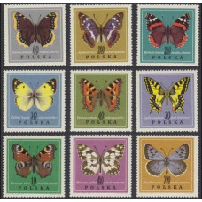 1967 Poland Mi.1797-1805 Butterflies 8.50 €
