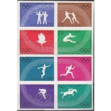 1960 Poland Michel 1166-1173VBb 1960 Olympiad Rim 8.50 €
