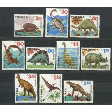 1965 Poland Mi.1570-1579 Dinosaurs 8,50 €