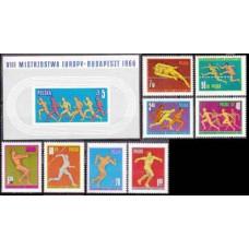 1966 Poland Mi.1680-1687+1688/B39b Sport 7,80 €