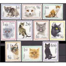 1964 Poland Mi.1475-1484 Cats 14,00 €