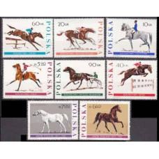 1967 Poland Mi.1740-1747 Horses 9,50 €