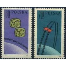 1962 Poland Mi.1350-1351 Pavel Popovich / Andrian Nikolayev