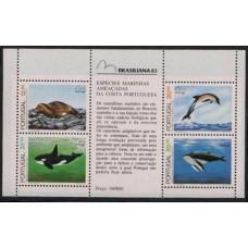 1983 Portugal Mi.1604-607/B41 Sea fauna 15,00 €