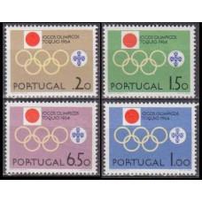 1964 Portugal Mi.968-71 1964 Olympics Tokyo 6,50 €