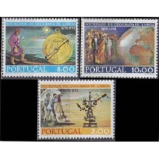 1975 Portugal Mi.1295-1297 100 years Geographical Society 6,50