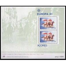 1981 Portugal-Acores Mi.342/B2 Horses / Europa 4,00