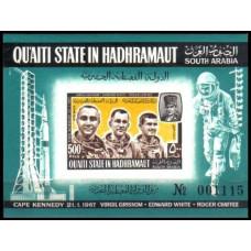 1967 Quaiti State in Hadhramaut Mi.141/B16b Astronauts 70,00 €
