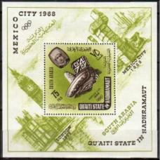 1966 Quaiti State in Hadhramaut Mi.79/B2 1968 Olympiad Mexiko 18,00 €