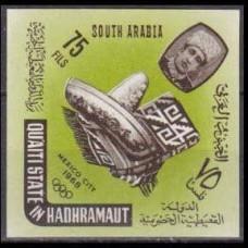 1966 Quaiti State in Hadhramaut Mi.79b 1968 Olympiad Mexiko 10,00 €