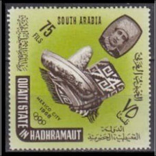 1966 Quaiti State in Hadhramaut Mi.79 1968 Olympiad Mexiko 2,00 €