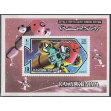 1971 Ras Al Khaima Mi.553/B101b Salyut 9,00 €