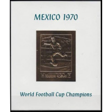 1970 Ras Al Khaima Mi.365/B81bgold 1970 World championship on football of Mexico 25,00 €