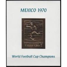1970 Ras Al Khaima Mi.365/B81bgold 1970 World championship on football of Mexico 25,00 €