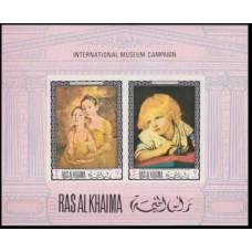 1968 Ras Al Khaima Mi.249-50/B44b Paintings