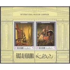 1968 Ras Al Khaima Mi.247-48/B43 Rembrant