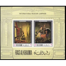 1968 Ras Al Khaima Mi.247-48/B43b Rembrant 10,00 €