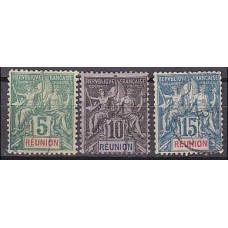 1892 Reunion Michel 35-37 used 6.90 €