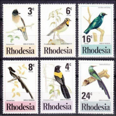 1977 Rhodesia Mi.188-193 Birds of Rhodesia 5,50 €