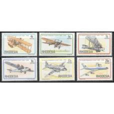 1978 Rhodesia Mi.221-226 Planes 4,00
