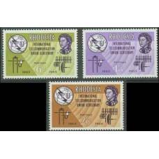 1965 Rhodesia Michel 1-3* ITU 8.00 €