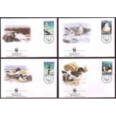 1997 Ross Dependency Mi.50-53FDC WWF / Sea birds 10,00 €