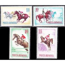 1964 Rumania Mi.2276-2279 Horses 5,00 €