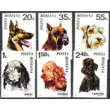 1971 Rumania Mi.2908-2913 Dogs 7,00 €