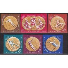 1961 Rumania Mi.2013-14.17-19b 1956 Olympiad Melbourne 15.00