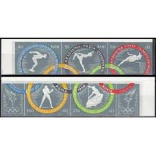 1960 Rumania Mi.1853-1858b 1960 Olympiad Rim 30.00