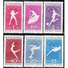 1960 Rumania Mi.1847-1852 1960 Olympiad Rim 7.00